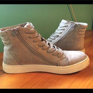 Steve Madden Gray Zip-up Sneakers